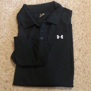 Black Long Sleeved Polo